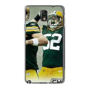 Protector Cell-phone Hard Covers For Samsung Galaxy Note 3 With Customized Attractive Green Bay Packers Skin 88bestcase
