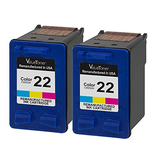 Valuetoner Remanufactured Ink Cartridge Replacement 2 Color for HP 22 CC580FN C9352AN High Yield Compatible for HP DESKJET F4180,F2210,D1560,3930,D1530,OFFICE 4315,J3640,FAX 3180,PSC 1401 Printer