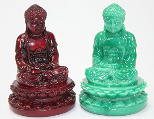 Set of 2 Feng Shui 1 Red + 1 Green 2