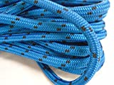 "5/8"" By 100 Feet Double Braided Polyester Arborist Rigging Bull Rope, Blue with Black Tracers"