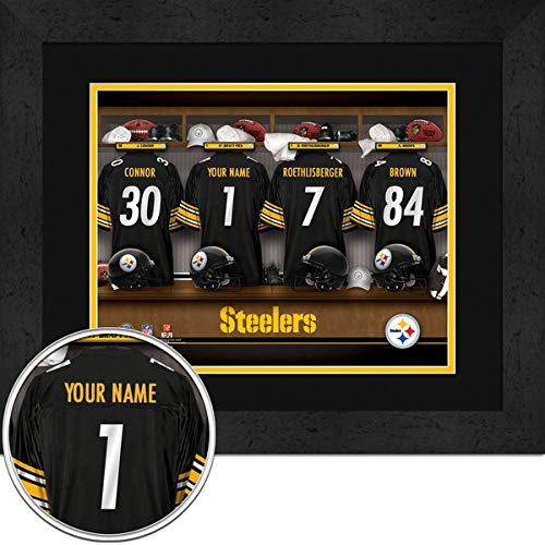 Pittsburgh Steelers Team Locker Room Personalized Jersey Officially Licensed NFL Sports Photo 11 x 14 Print ()