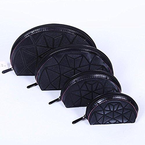 Aoligei 0 portefeuilles, quatre pièces, moitié un gommage de Dame du demi-cercle, cube Diamond Japonais-style sac à main C