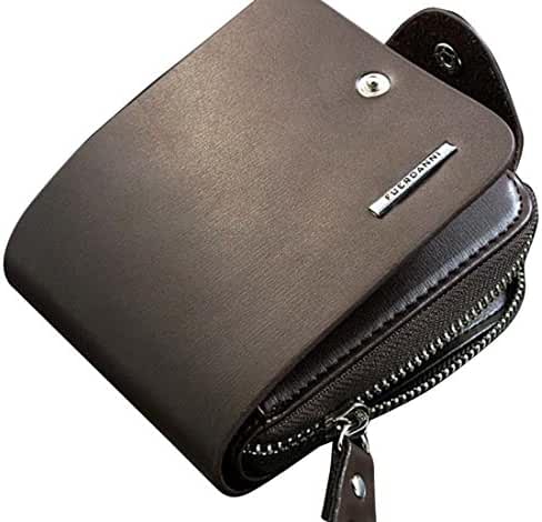 Wallet,toraway Mens Leather Billfold Zip Purse Wallet Clutch Handbag