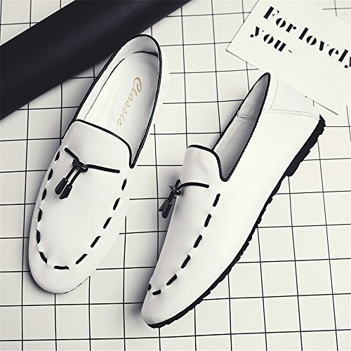On WaltZon Slip Dress White Shoes Shoes Moccasins Mens Loafers Driving Pttqwf1r