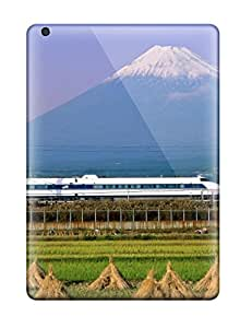 Fashionable YUZGDfd46hDHcq Ipad Air Case Cover For Artistic Bullet Train Mount Fuji Japan Protective Case