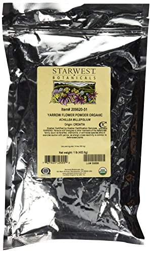 (Organic Yarrow Flower Powder, 1 lb (453 g))