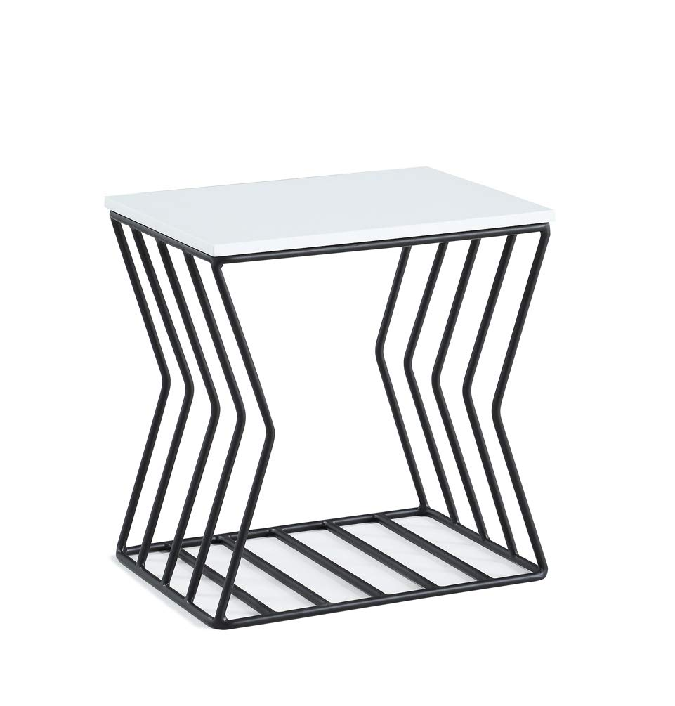 Now House by Jonathan Adler Grid Accent Table, Black and White 28218