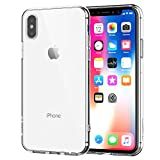 iPhone X Case, Shamo's [Crystal Clear] iPhone 10 Case [Shock Absorption] Cover TPU Rubber Gel [Anti Scratch] Transparent Clear Back Case, Front Screen Raised Lip Protection Life-time Warranty