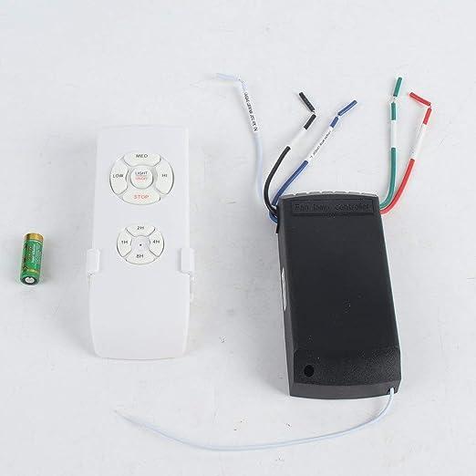 110-240 V lámpara para ventilador de techo mando a distancia Kit ...