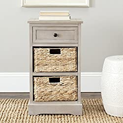 Safavieh American Home Collection Newburgh Storage Side Table, Vintage Grey