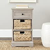 vintage home accents - Safavieh American Homes Collection Carrie Vintage Grey Side Storage Side Table