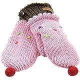 Old Glory - Girls Strawberry Cupcake Kids Knit Mittens Pink