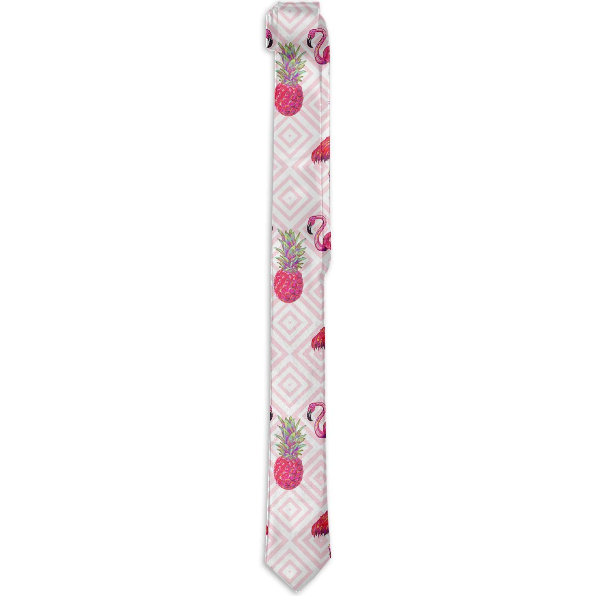 Business Pink Flamingo Pineapple Corbata Skinny Tie Gift Mens ...