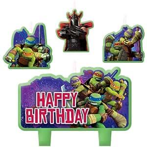 Amazon.com: Party Time Teenage Mutant Ninja Turtles moldeado ...
