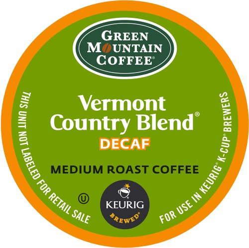 Vermont K-cups Blend Country (Keurig, Green Mountain Coffee, Vermont Country Blend(melange)Decaf, K-Cup packs, 50 Count)