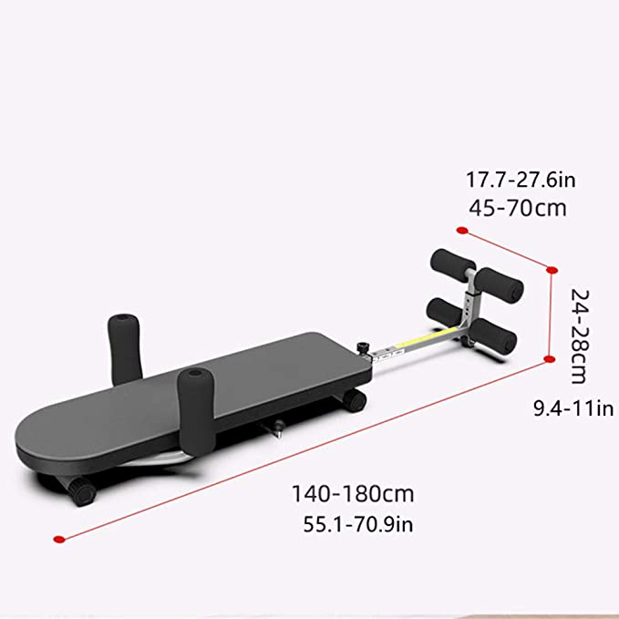 Inline Stretch Bench With Cervical Traction NBRTT Stamina In Line Back Stretch Adjustable Fitness Workout for Full Body Roller Go Stretcher Bench
