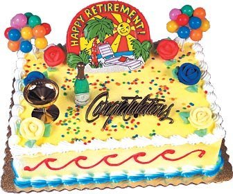 Retirement Cake Kit Retirement Theme Cake Kit Happy Retirement Cake