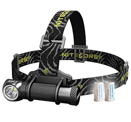 (Nitecore Bundle: 3 Items HC30 1000 Lumens Compact Cree XM-L2 U2 LED Headlamp Headlight w/Two LumenTac CR123A Batteries)