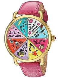 Betsey Johnson Women's BJ00212-13 Wheel of Fortune Motif Dial Watch