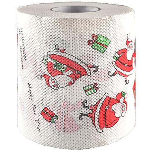 Fedi Apparel Christmas Toilet Roll Paper Santa Claus Printed Table Living Room Bathroom Tissue