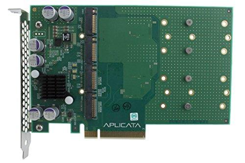 - Aplicata Quad M.2 NVMe SSD PCIe x8 Adapter