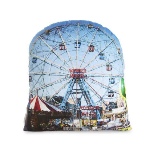 Wonder Wheel Pillow (Toy Store In Nyc With Ferris Wheel)