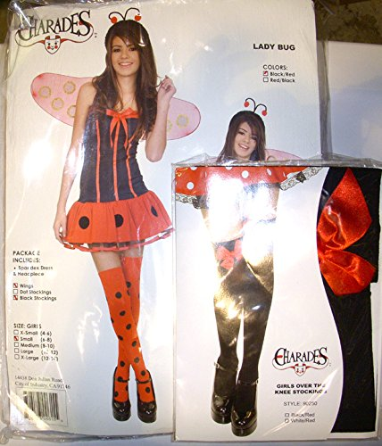 Teen Lady Bug Girls Small Size 6-8 Halloween Costume]()