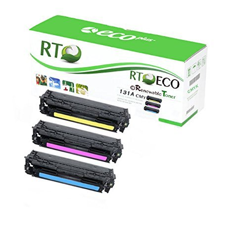 Renewable Toner 131A Compatible Color Toner CMY (1.8k prints) for HP Color Laserjet Pro Printers: 200 M251n, M251nw, M276n, M276nw