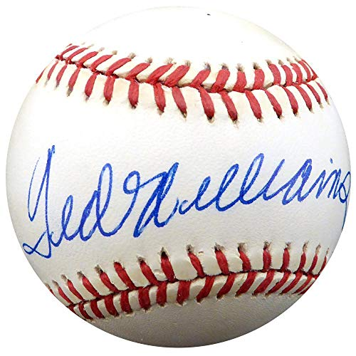 Ted Williams Autographed Ball - Official AL Beckett BAS #A68599 - Beckett Authentication - Autographed Baseballs