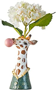 Giraffe Blowing Bubbles Creative Vase Decoration Ornaments Art Vase Artificial Flower Vase Dried Flower Vase Home Living Room Table Art Statue