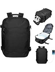 LA PAIX Travel backpack Duffel bag Messenger Carry-on Luggage Separate Shoes Latop comparment with USB charing...