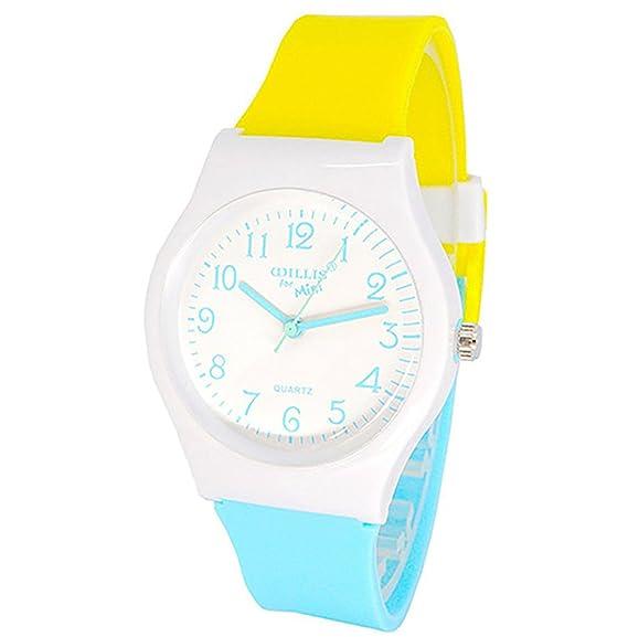 Relojes de pulsera, con correa de goma, para niños, niñas, adolescentes,