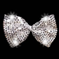Light Up Silver Sequin Bowtie (1 per order)