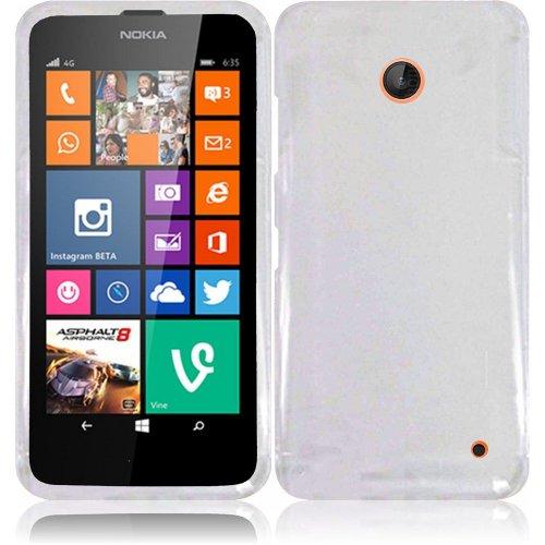 Nokia Lumia 635, EpicDealz (Clear) Slim Grip Snap-On Rubberized Hard Plastic Cover Case For Nokia Lumia 635 (Boost Mobile, Metro PCS, T-Mobile, Virgin Mobile) + Mini Stylus Pen + Case Opener