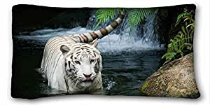 Soft Pillow Case Cover Animal Custom Cotton & Polyester Soft Rectangle Pillow Case Cover 20x36 inches (One Side) suitable for Twin-bed