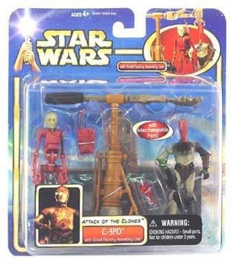 Star Wars Attack of the Clones C-3Po with Droid Factor Assembly -