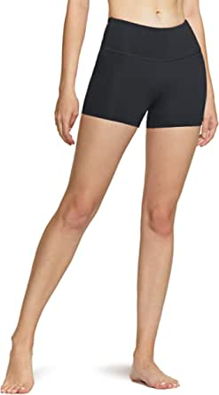 TSLA Women's High Waisted Bike Shorts, Workout Running Yoga Shorts with Pocket(Side/Hidden), Athletic Stretch Exercise Shorts