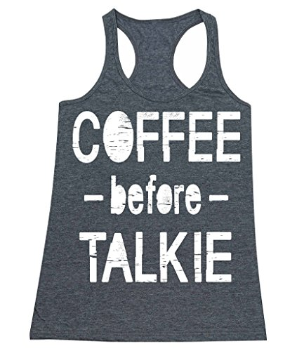 P&B Coffee Before Talkie Women's Tank Top, M, H. Charcoal (Water Talkies compare prices)