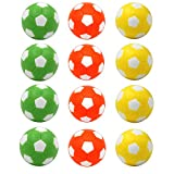 Goutoports Table Soccer Foosballs, 12 Pack Replacement Balls, 36mm Mini Colorful Official Tabletop Game Ball