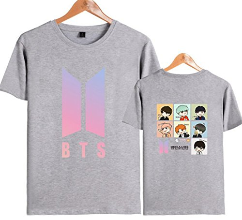 BTS In Bloom Tshirt Unisex T-Shirt Tee Bangtan Boys J-Hope Suga JIMIN V Jin (Grey, S)