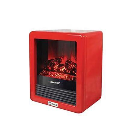 Heater GJM Shop Chimenea Eléctrica 1500W Multifunción Mini Calentadores De Aire Caliente Llama Atomizadora 3D Portátil
