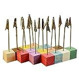 10pcs 10 Colors Cube Wire Base Photo Holder Stand Card Note Desk Memo Clip (16pcs)