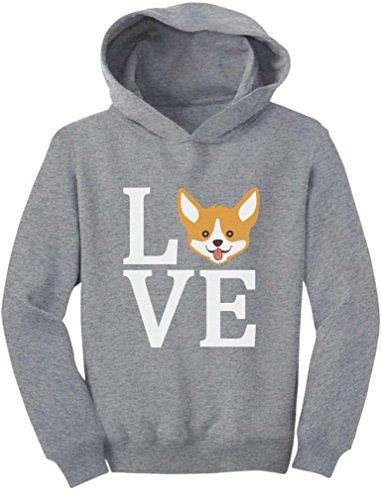 Tstars - Gift for Dogs Lover Corgi Dog - Animal Lover Toddler Hoodie 2T Gray
