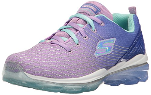 Price comparison product image Skechers Kids Girls' Skech-Air Deluxe Sneaker, Lavender/Multi, 12 M US Little Kid