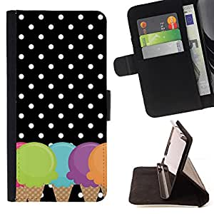 """For LG G4 Stylus / G Stylo / LS770 H635 H630D H631 MS631 H635 H540 H630D H542 ,S-type Cono Lunares Negro Blanco"""" - Dibujo PU billetera de cuero Funda Case Caso de la piel de la bolsa protectora"""
