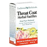 Traditional Medicinals, Throat Coat Herbal Pastilles, 24-Count Boxes (Pack of 3)