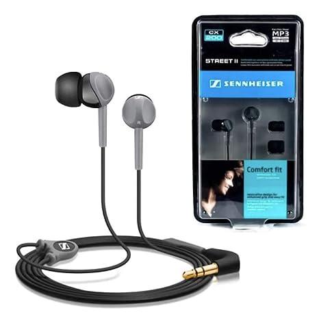 Sennheiser CX 200 Street II In-Ear-Kopfhörer (1,2 m Kabellänge, Earadapterset S/M/L) schwarz/grau