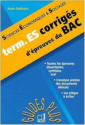 Sciences économiques & sociales : Les épreuves de SES au bac pdf, epub ebook