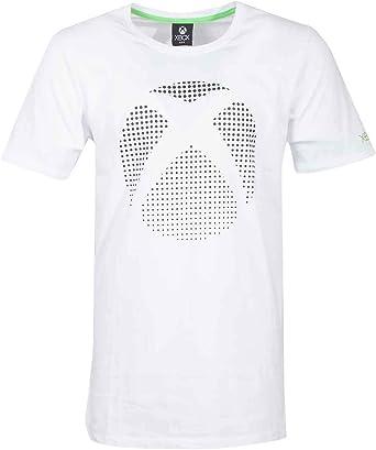 Xbox T Shirt Dot Controller Logo Nouveau Officiel Gamer Homme
