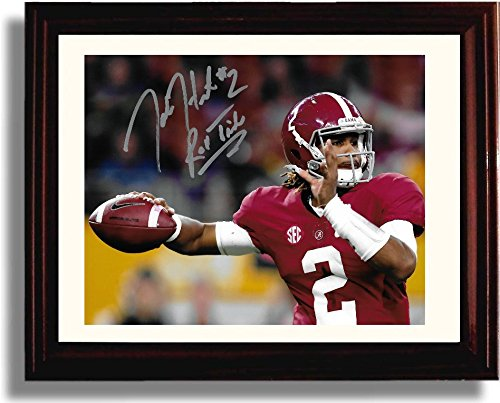 "Framed Jalen Hurts ""Roll Tide"" Alabama Crimson Tide Autograph Replica Print"